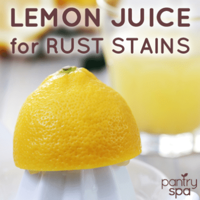 Lemon Juice Removes Rust From Clothes