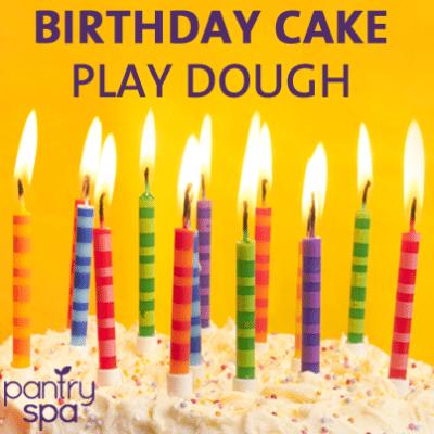 Birthday Cake Playdough: Make Your Own Playdough Recipe