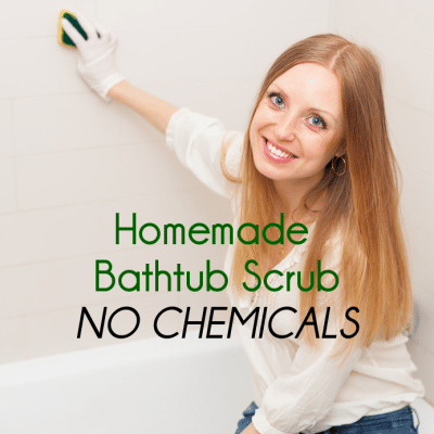 DIY Natural Bathtub Scrub Removes Scum & Cleans Without Toxic Chemicals