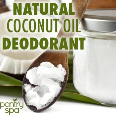DIY Homemade Natural Coconut Oil Deodorant Recipe