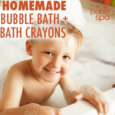 DIY Natural Bath Crayons & Homemade Bubble Bath Recipes
