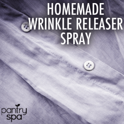 Homemade Liquid Wrinkle Releaser Recipe & From Towel to a Dryer Sheet
