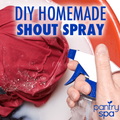 "DIY ""Shout"" Stain Remover (Homemade Recipe That Doesn't Clog Up!)"