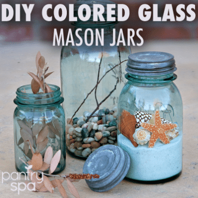 How to Make Waterproof Colored Glass Bottles & Mason Jars