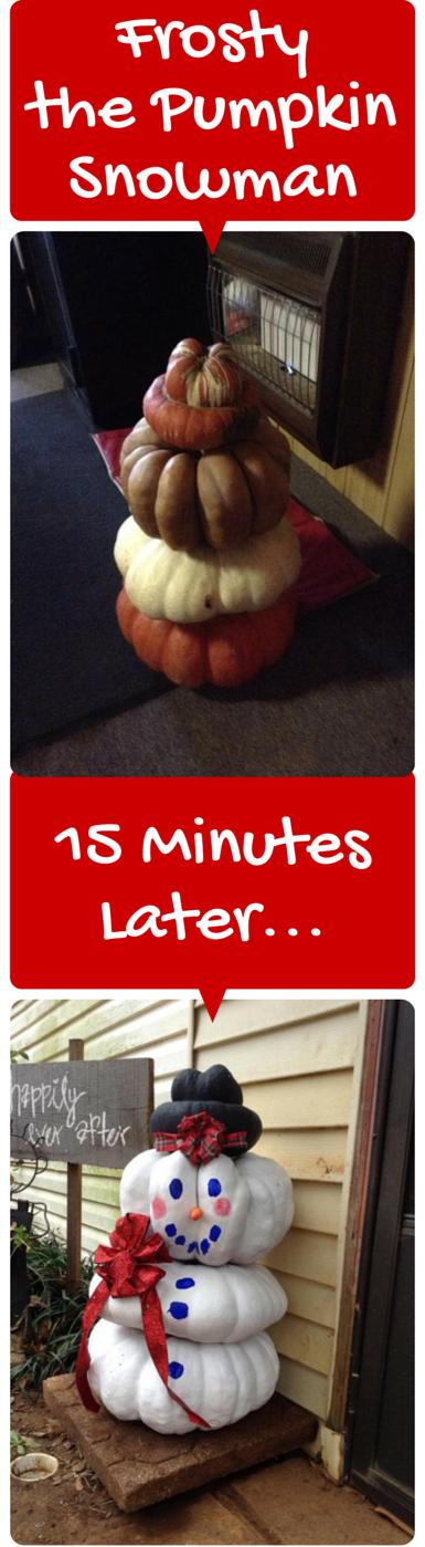 How to Make a Pumpkin Snowman